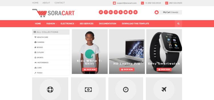 Soracart тема для сайта продаж