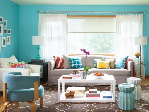 Salas turquesas salas con estilo - Como hacer color turquesa ...