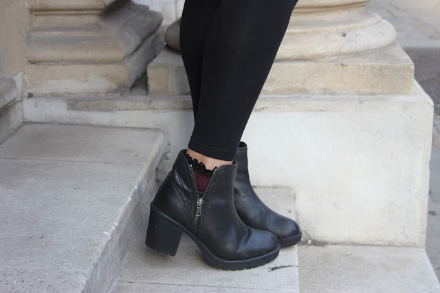 new look chunky black boots