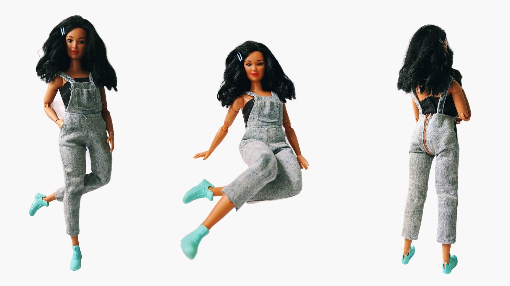 Джинсовый комбинезон для Барби пышки