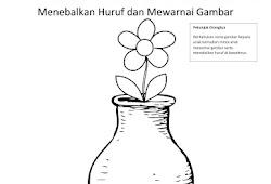 Catatanku Anak Desa Gambar Mewarnai Vas Bunga