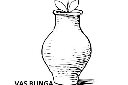 Gambar Vas Bunga Untuk Mewarnai Gambar Mewarnai