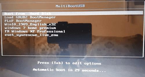 حرق أكثر من نظام ويندوز على فلاشة usb و حرق لينكس و أسطوانات الإنقاذ و ملفات iso شرح MultiBootUSB