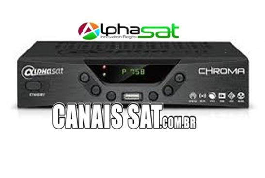 Alphasat Chroma Nova Atualização V12.04.18.S60 - 19/05/2020