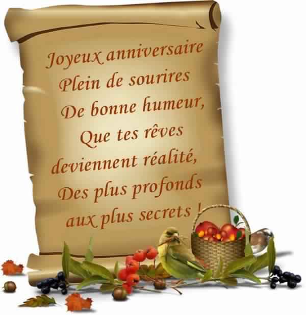Texte Joyeux Anniversaire Amie