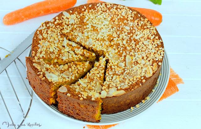 Bizcocho de avena, almendra y zanahoria. Julia y sus recetas