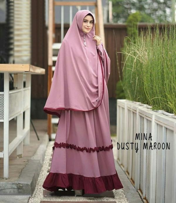 Jual Baju Busana Muslim Gamis Mina Syari