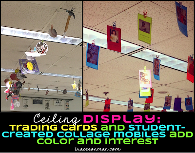 Use the ceiling to display student work. Read more: www.traceeorman.com