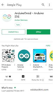 Cara Memprogram Arduino menggunakan Android Serta Upload Program
