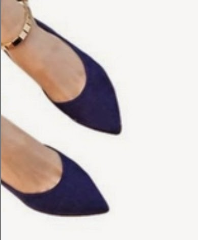 Aldo Black Flat Pointed Ankle Strap Shoes