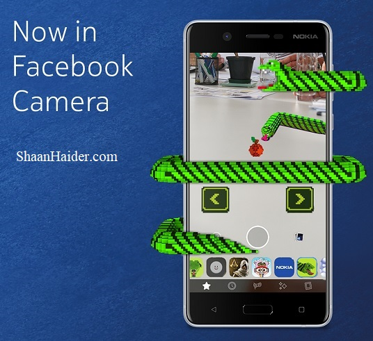 Nokia Snake Game on Facebook Camera