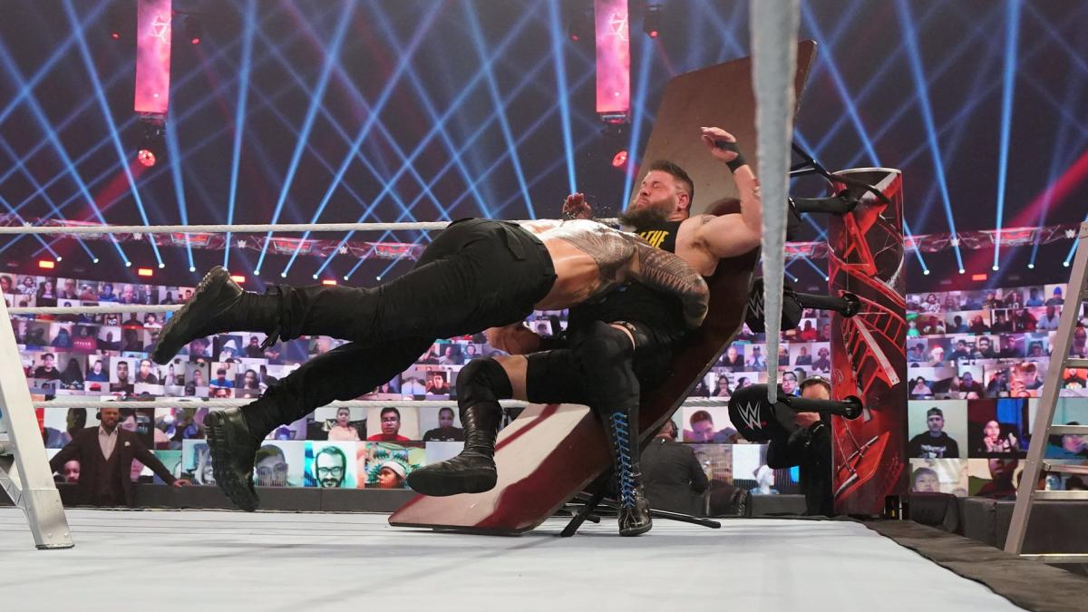 Roman Reigns and Kevin Owens on WWE TLC