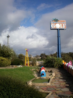 The Adventure Golf course at Pleasureland Southport as it was just after the theme park had been left abandoned in 2009