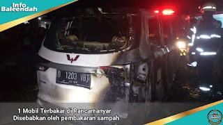 Mobil wuling terbakar