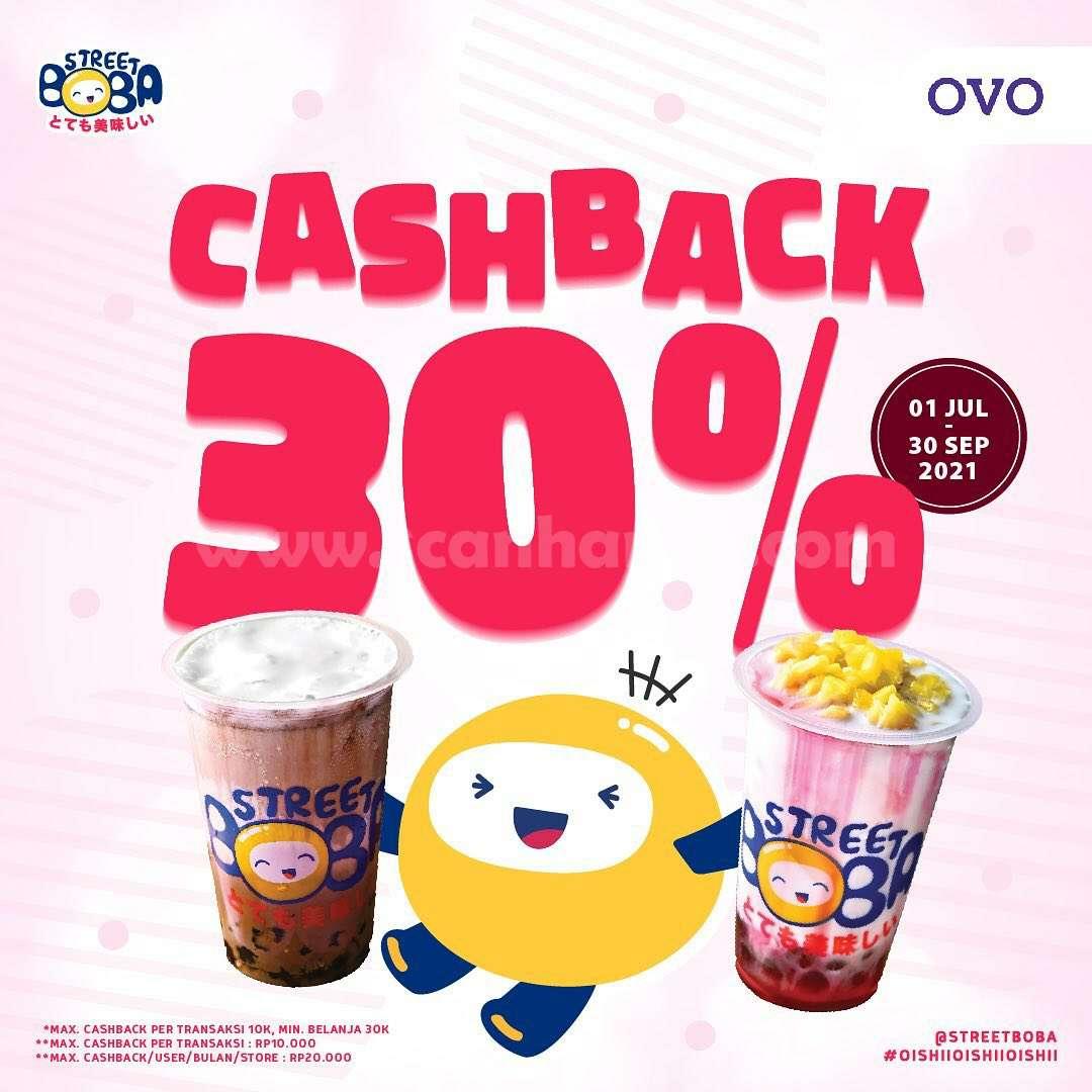 STREET BOBA Promo CASHBACK 30% khusus Transaksi pakai OVO