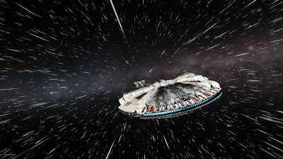 Completed Bandai Millennium Falcon 1/144 Space Wallpaper