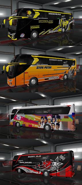 40 Livery Pariwisata Mod Jetbus 3 SHD Adudu Edit Diny V1
