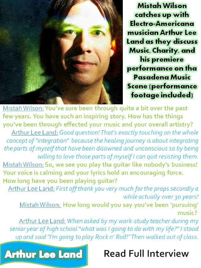 Electro-Americana musician Arthur Lee Land Exclusive Interview w/ Mistah Wilson