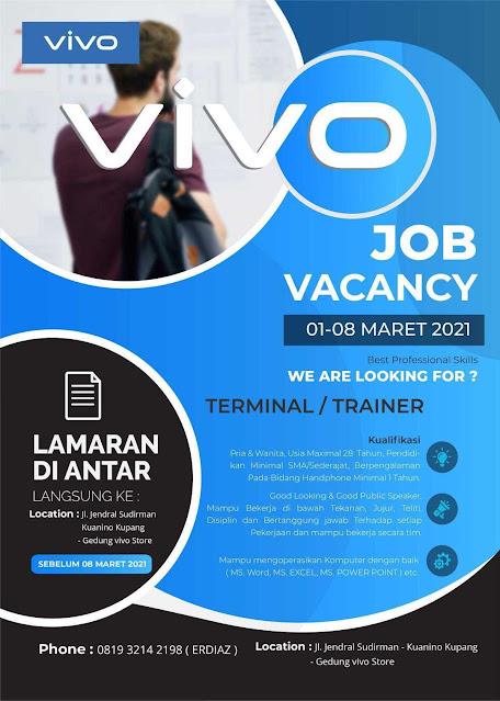 Lowongan Kerja di VIVO Kupang Sebagai Terminal/Trainer