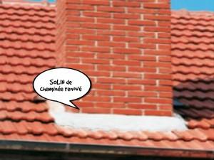 Rénovation solin pied de cheminée