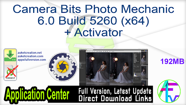 Camera Bits Photo Mechanic 6.0 Build 5260 (x64) + Activator