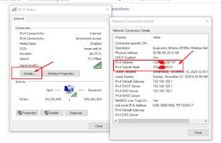 detail alamat ip komputer windows