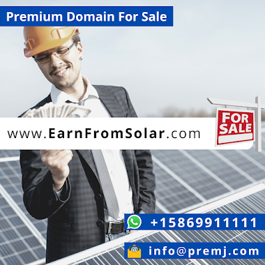 EarnFromSolar.com Premium Domain For Sale