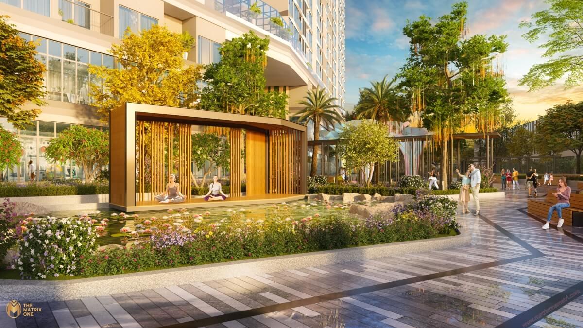 Không gian sống resort của dự án Matrix One Mễ Trì