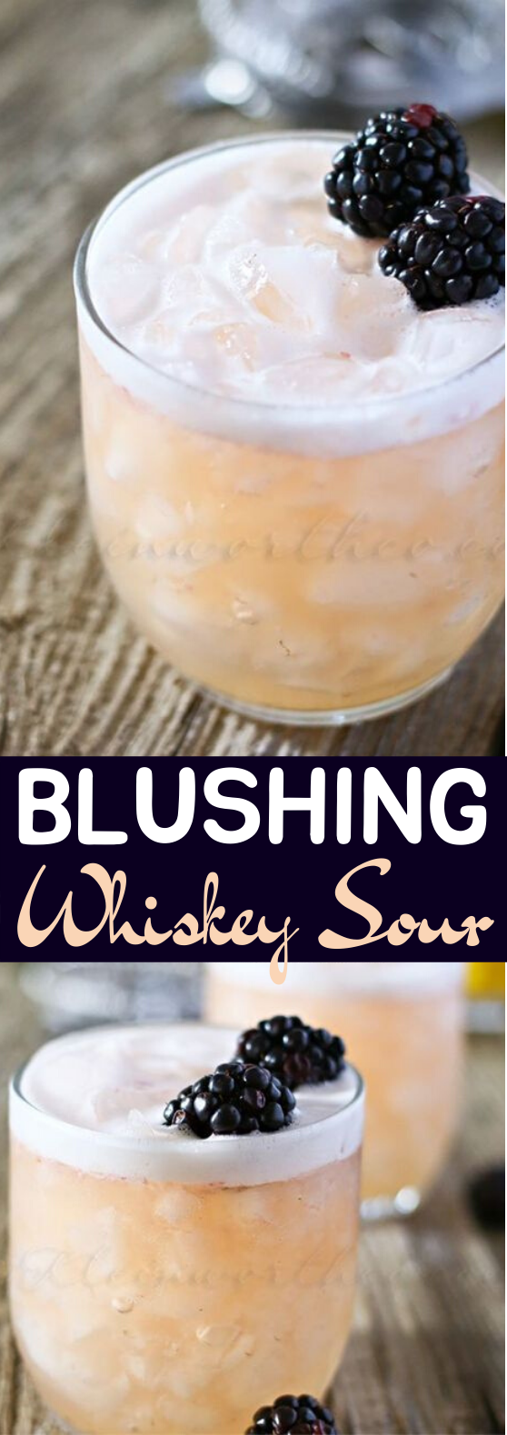Blushing Whiskey Sour #drinks #alcohol #cocktails #adult #beverages