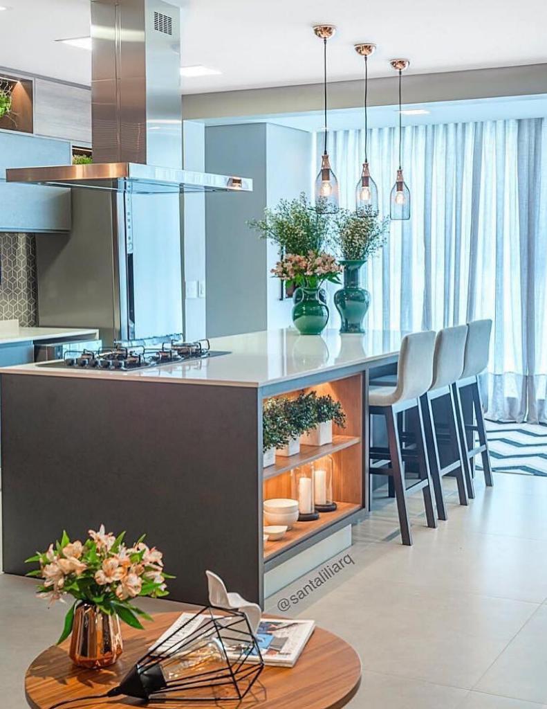 cozinha planejada inspiração simples e moderna 3