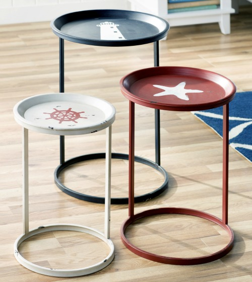 Coastal & Nautical Accent, Side & End Tables