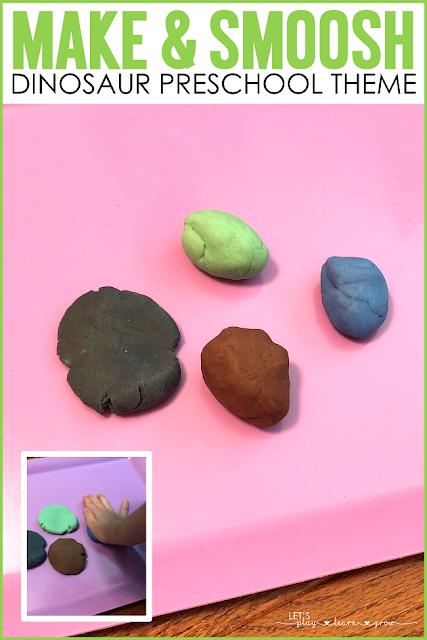 Playdough Dinosaur Eggs Preschool Dinosaur activity