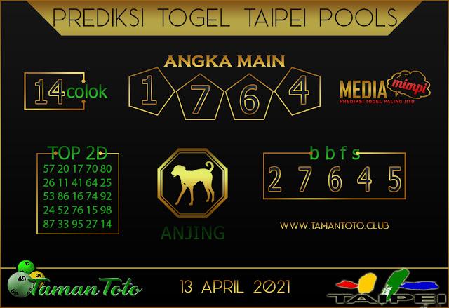 Prediksi Togel TAIPEI TAMAN TOTO 13 APRIL 2021