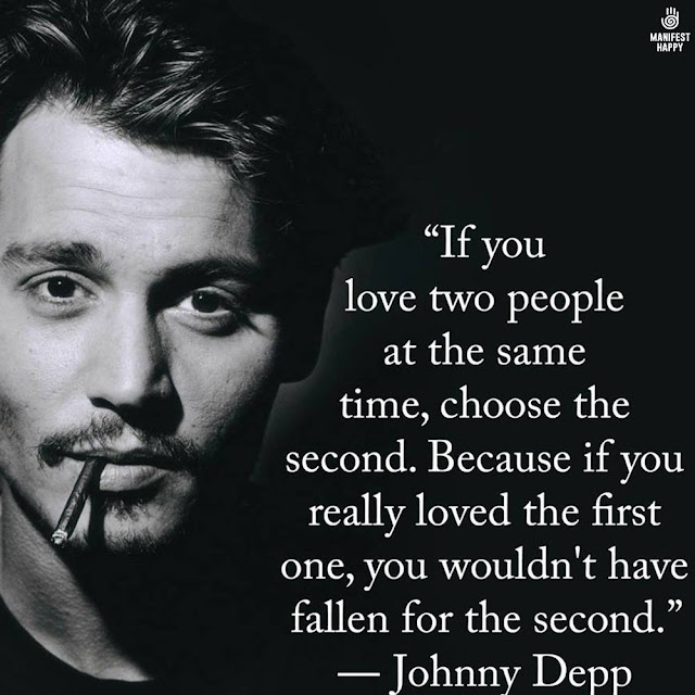 Johnny Depp if you love two women