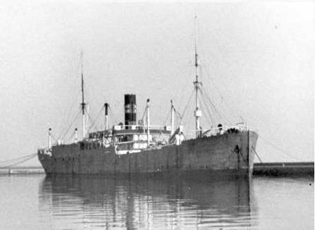 SS Uniwalecto, sunk on 7 March 1942 worldwartwo.filminspector.com