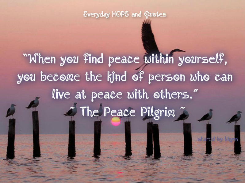 Everyday HOPE And Quotes : Don't Trade Your Peace Of Mind