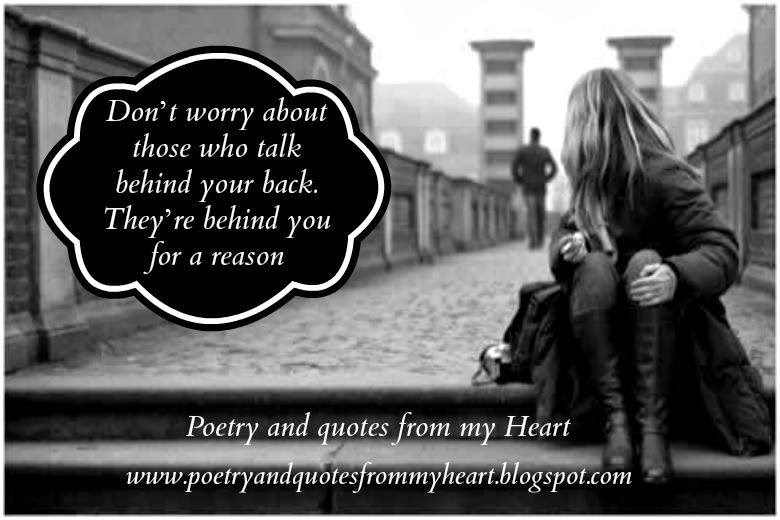Poetry And Quotes From My Heart Dont Worry About Those Who Talk