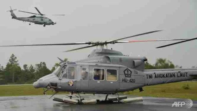 Trực thăng quân đội Indonesia lại rơi, 12 người chết