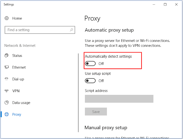 Windows Couldn't Automatically Detect This Network's Proxy Settings