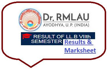 RMLAU Ayodhya LLB 7th Sem Result 2021