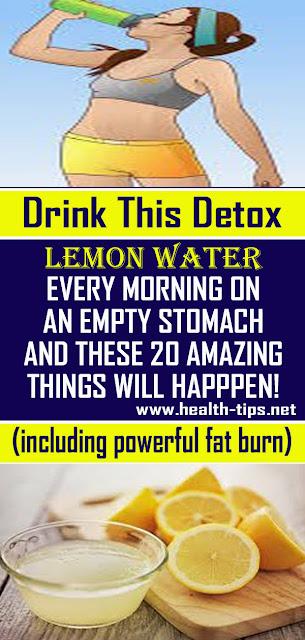 20 Reasons You Should Drink Detox Lemon Water In The Morning#NATURALREMEDIES