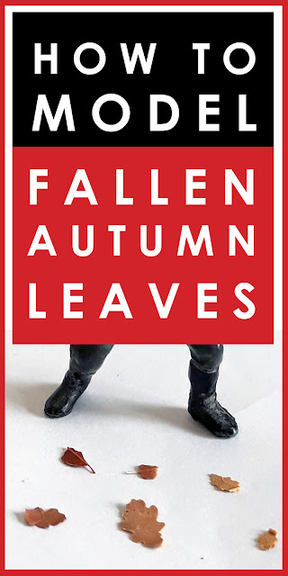 How to make fallen autumn leaves in 1/35 scale for diorama scenery