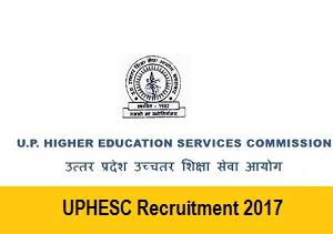 UPHESC Recruitment Posts Principle
