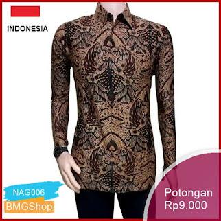 NAG006 Batik Pria Bordir Sogan Hrb026 Batikaf Murah Bmgshop
