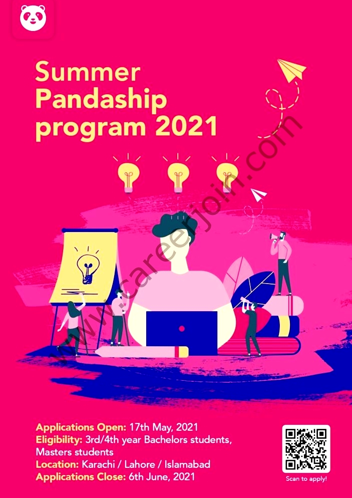 Latest Food panda Pakistan Summer Pandaship Program May 2021