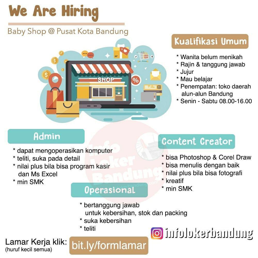 Lowongan Kerja Baby Shop Bandung Juli 2019
