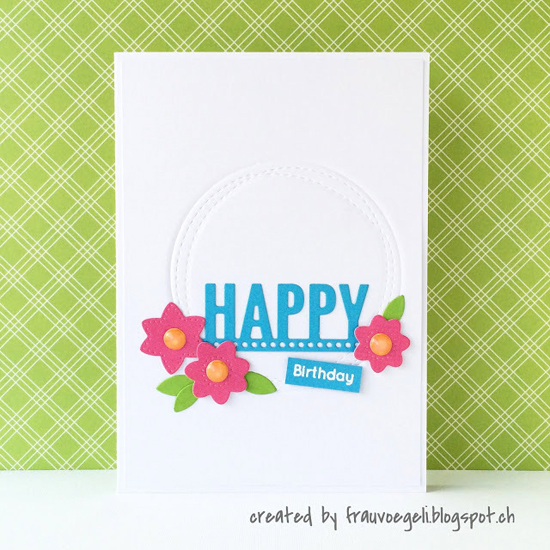 Fresh Cut Flowers, Wonky Stitched Circle STAX, and Laina Lamb Design Accent It - Celebrate  Die-namics - Frau Vögeli #mftstamps