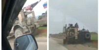 """بالفيديو: مدرعة أميركية ترد على """"تحرش"""" عربة روسية في سوريا"""