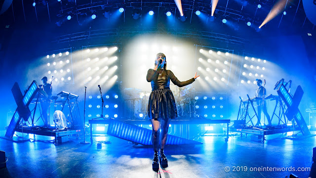 Chvrches at Rebel on July 7, 2019 Photo by John Ordean at One In Ten Words oneintenwords.com toronto indie alternative live music blog concert photography pictures photos nikon d750 camera yyz photographer