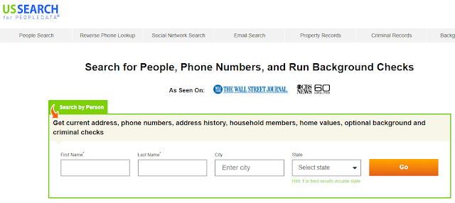 USsearch free email lookup by name in US